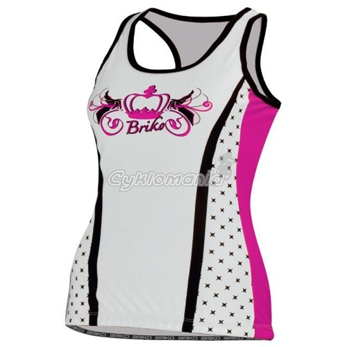 Top Briko ROYALE pink-black-white