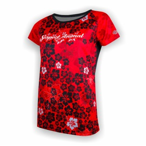 Dámský freeride dres Cyklomania Red Flowers