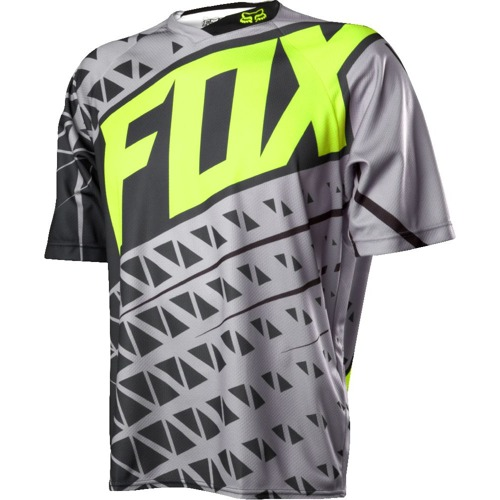 Volný dres Fox Demo S/S Jersey Grey/Yellow