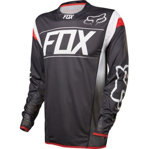 Volný dres Fox Racing Flexair DH L/S Black/White