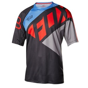 Volný dres Fox Demo S/S Seca Jersey Black/Grey/Red