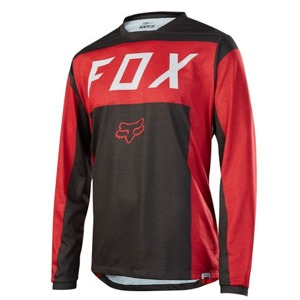 Dres Fox Indicator L/S Jersey Red Black
