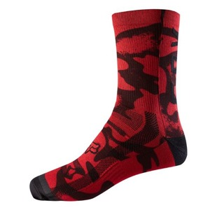 "Ponožky Fox Racing Print Trail 8"" Red Black"