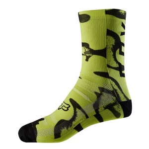 "Ponožky Fox Racing Print Trail 8"" Yellow/Black"