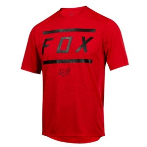 Dres Fox Ranger S/S Jersey Bars Bright Red