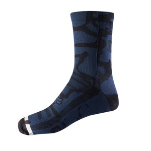 "Ponožky Fox Racing Print Trail 8"" Navy/Grey"