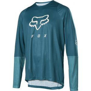 Dres Fox Defend L/S Foxhead Jersey Maui Blue