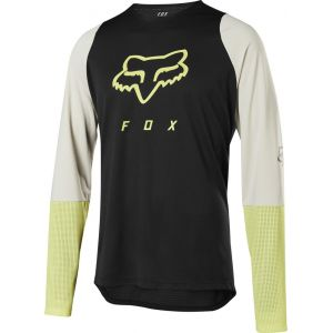 Dres Fox Defend L/S Foxhead Jersey Black/Yellow