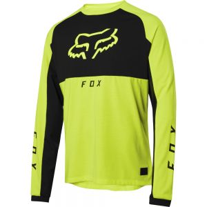 Dres Fox Ranger Drirelease Mid L/S Jersey Day Glo Yellow