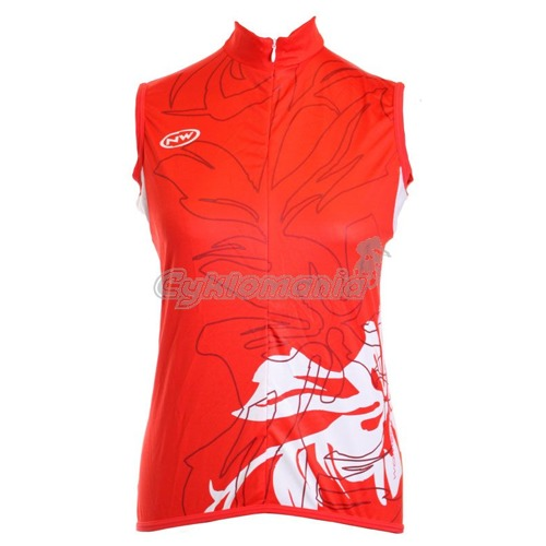 Dres Northwave Elisir lady bez rukávů red/white