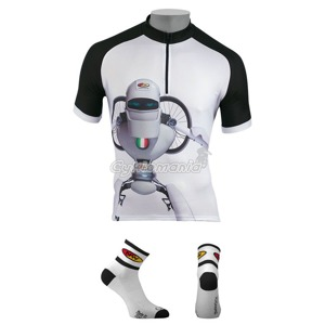 Dres Northwave ROBOT white + ponožky Comp2 white/black