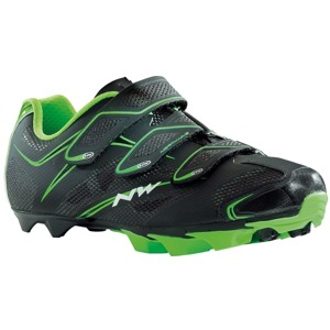 MTB tretry Northwave SCORPIUS 3S black-green fluo