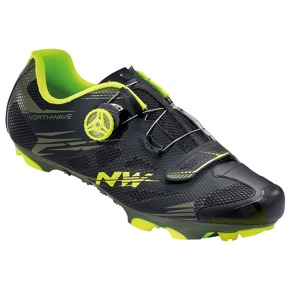 MTB tretry Northwave SCORPIUS 2 PLUS black military-green fluo
