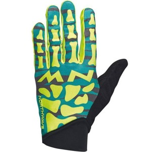 Rukavice Northwave Skeleton Original Full green/yellow fluo