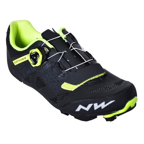 MTB tretry Northwave RAZER black-yellow fluo