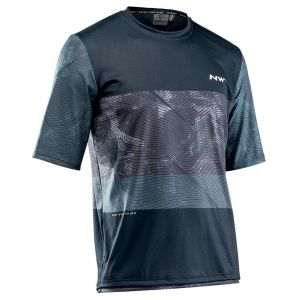 Volný dres Northwave Xtrail S/S Jersey Black/Grey/White