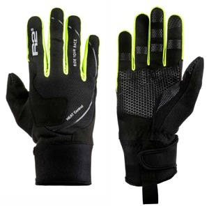 Rukavice R2 Blizzard black/neon yellow