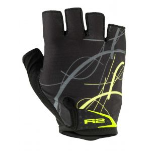 Rukavice R2 Easer black/neon yellow