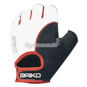 Rukavice Briko WIND BIKE white-red-black