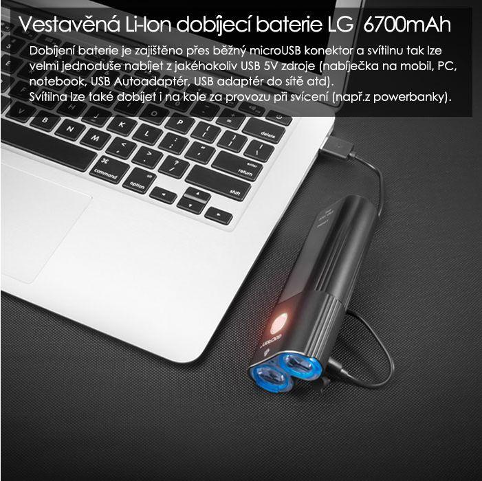 Světlo přední Gaciron V9D Limited Edition USB Cyklomania.cz ff6facba90