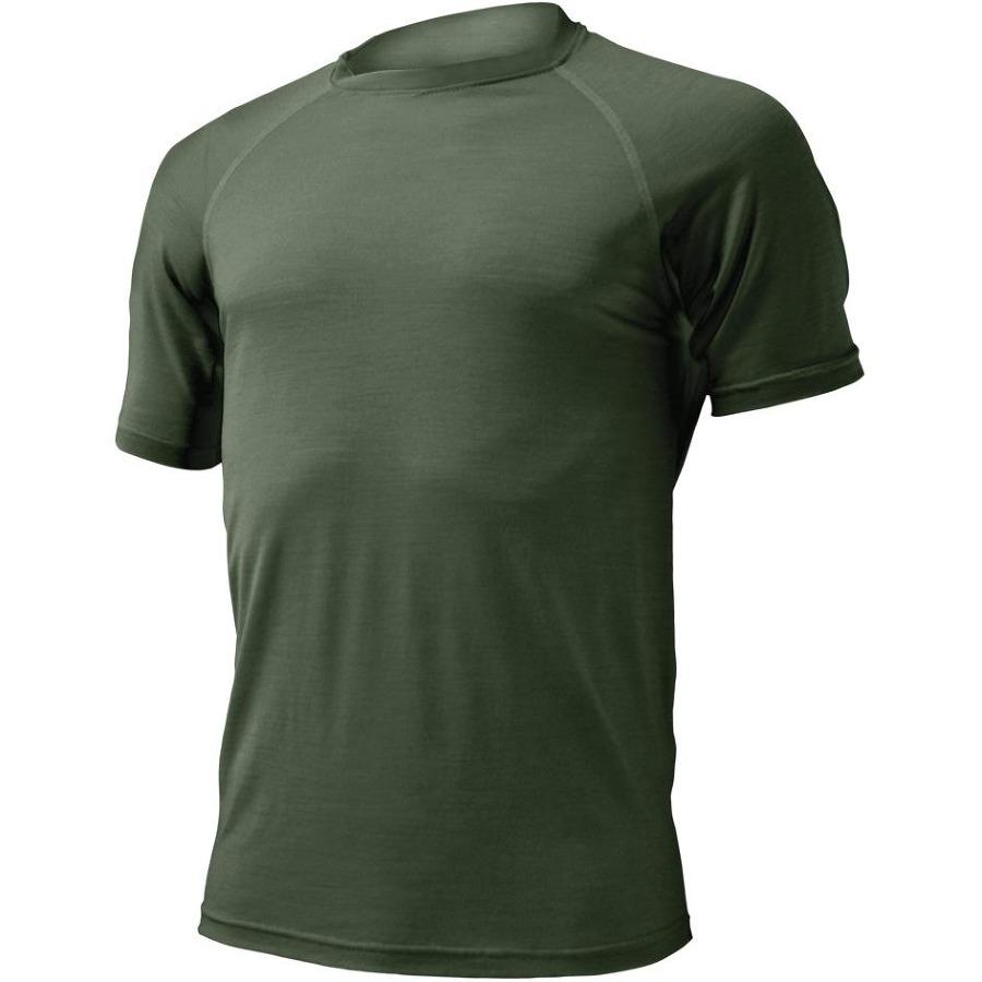 Pánské vlněné tričko Lasting Merino QUIDO tmavě zelené z kategorie  Termoprádlo 4ae70d3c16