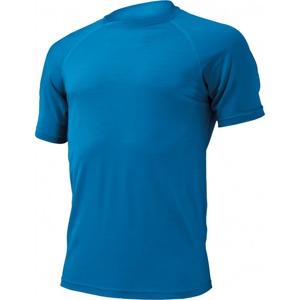 Pánské vlněné tričko Lasting Merino QUIDO světle modré b73ca8a9e1