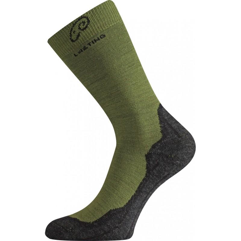Merino ponožky Lasting WHI zelená z kategorie Termoprádlo 1d4500075a