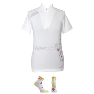 Dres Northwave FIZZ lady white + ponožky Diva white/rubine red