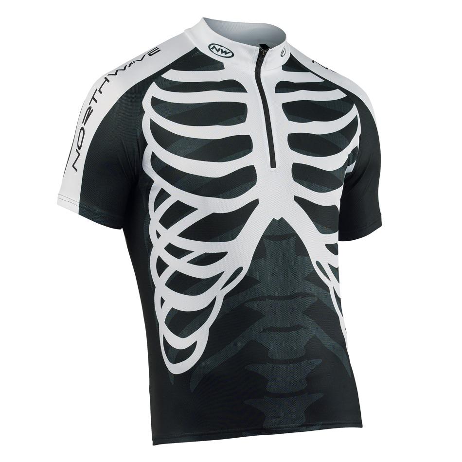vyprodej. Dres Northwave SKELETON black white z kategorie Cyklo oblečení 62bcb03258