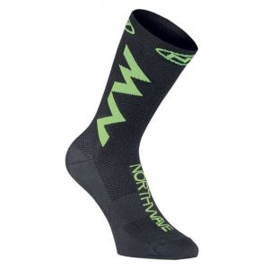 Ponožky Northwave Extreme Air Socks Black/Lime Fluo