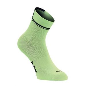 Ponožky Northwave Logo 2 High Socks Lime Fluo/Black