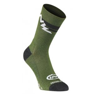 Ponožky Northwave Extreme Winter High Socks Green Forest/Black