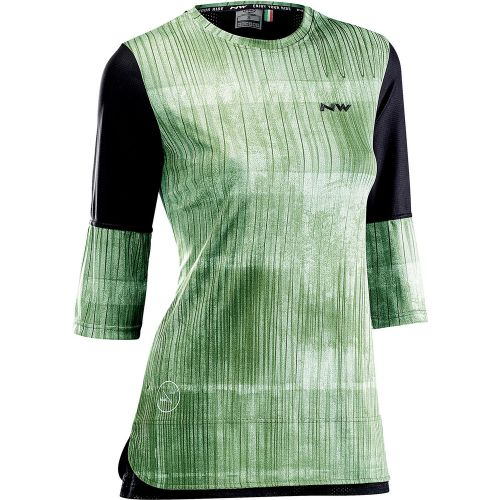 Dámský dres Northwave Edge 3/4 Jersey Green Forest/Black