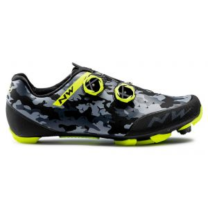 MTB tretry Northwave REBEL 2 camo black-yellow fluo