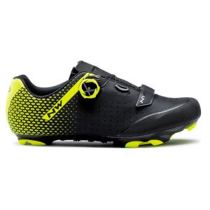 MTB tretry Northwave ORIGIN PLUS 2 black-yellow fluo