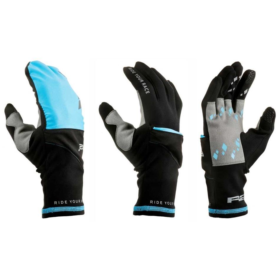 Rukavice R2 Cover black blue Cyklomania.cz 08c6a6b2cd