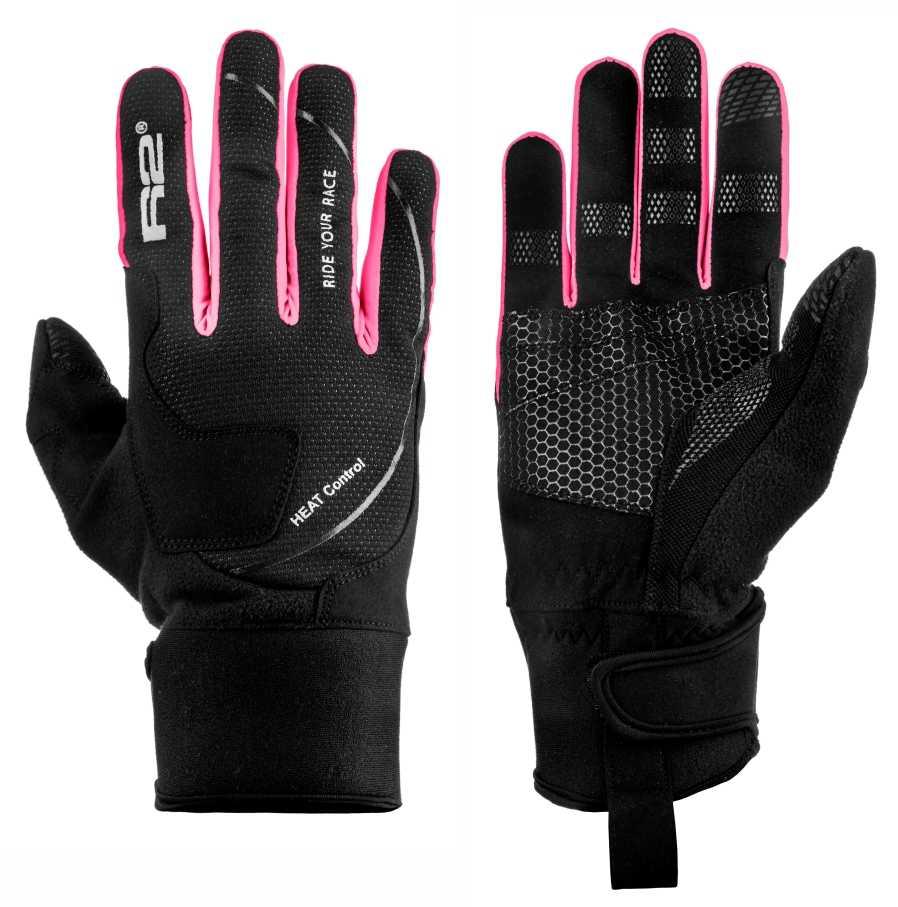 Dámské rukavice R2 Blizzard black pink z kategorie Cyklo oblečení 2f9bccd56f