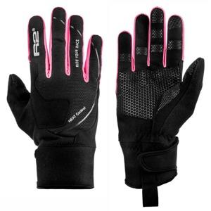 d675569b9af Dámské rukavice R2 Blizzard black pink
