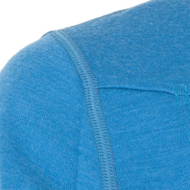 3d4f71d6a49 Doprava zdarma. Pánská mikina SENSOR Merino Upper krátký zip modrá z kategorie  Termoprádlo