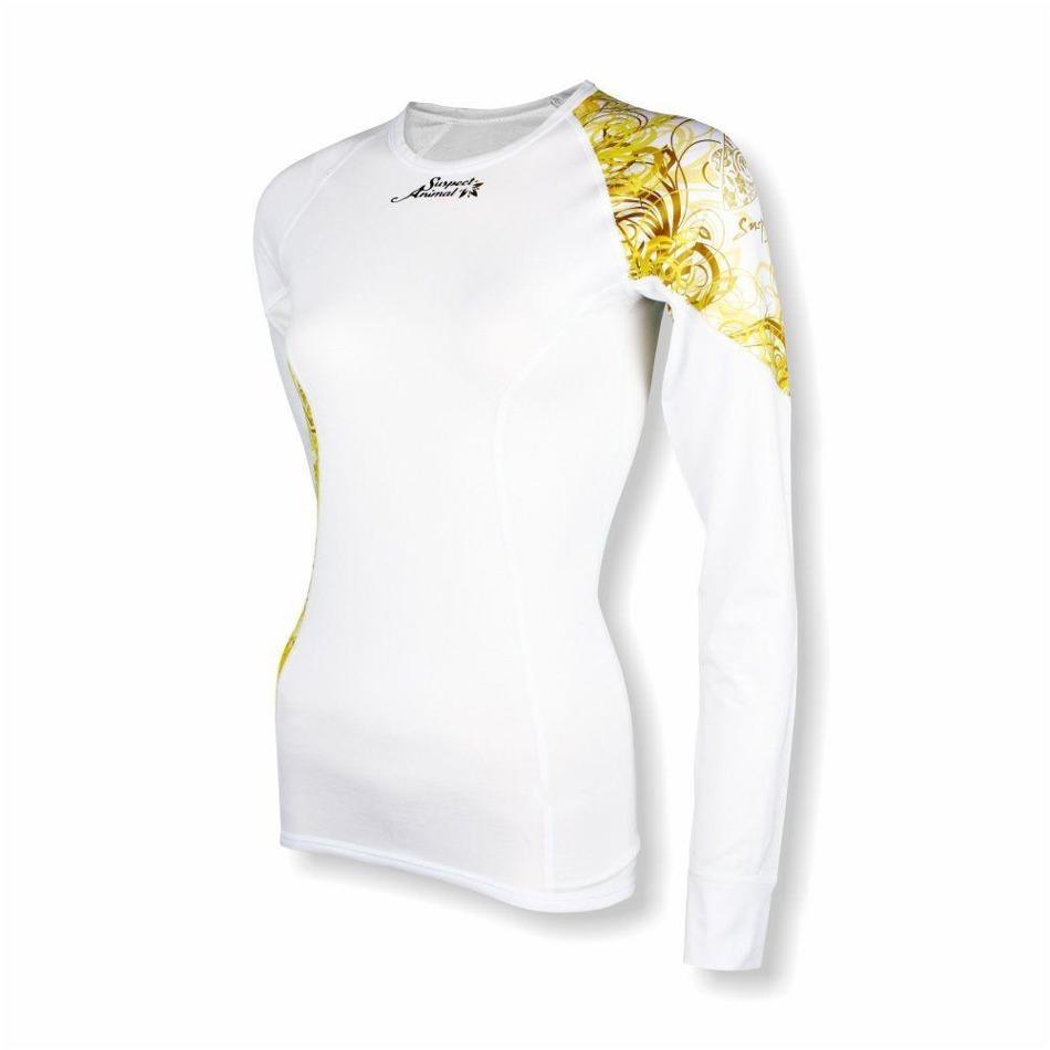 026e5957e51 Dámské funkční triko Suspect Animal Bamboo Ultra dlouhý rukáv GOLD bílá z  kategorie Termoprádlo